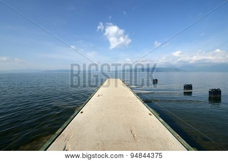 Picture of a Lake Prespa Macedonia View from Pretor poster