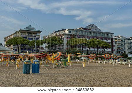 Lido di Jesolo, Adriatic sea, venetian Riviera, Italy poster