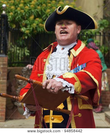 Town Crier announcing the news