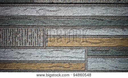 Old Wall Made Of Colored Resin Stone Slabs, Background