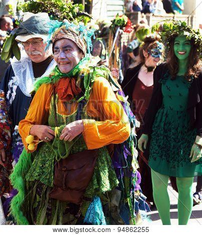 Jack the Green Festival in Hastings, UK