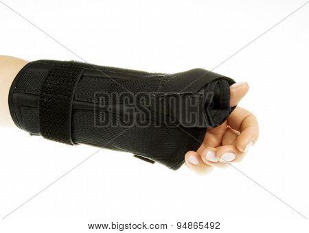 Wrist Orthosis On Isolated White
