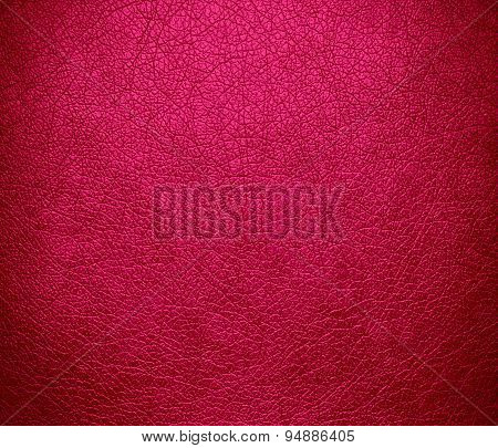 Deep pink leather texture background