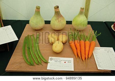 Prize Winning Vegetables, Basingstoke Flower Show