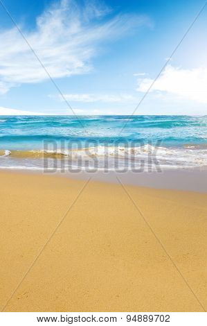 Tropical Beach and blue Ocean