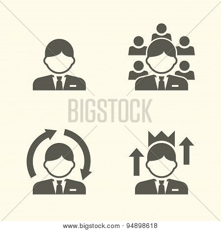 Office guy portrait icons
