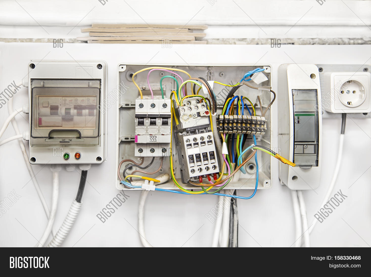 Breakers Switch Flat Image Photo Free Trial Bigstock Circuit Breaker Panel Diagram Also How To Wire A Fuse Electric Box Electrical With Wires Meter In