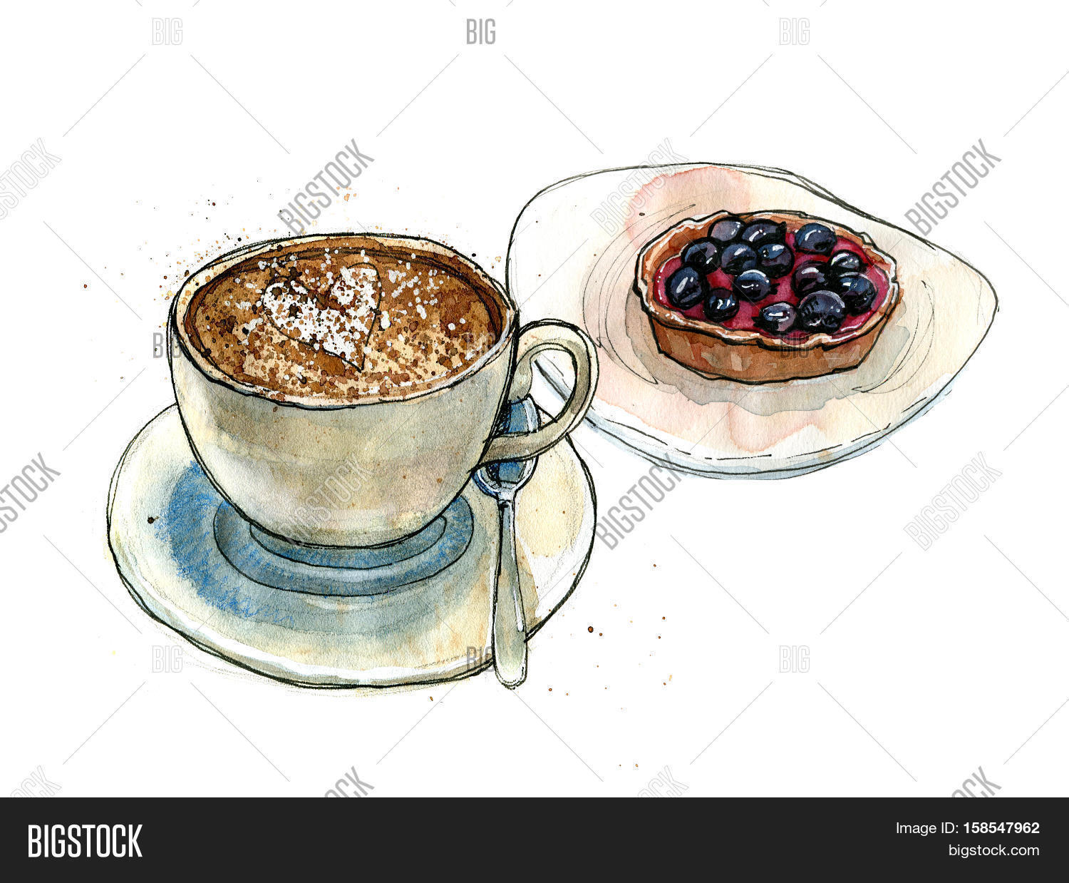 Coffee Cup Saucer Image Photo Free Trial Bigstock