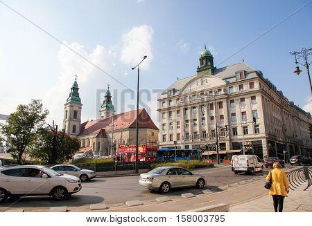 Piarist Gymnasium And Inner City Parish Church In Budapest