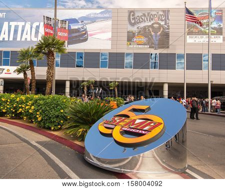 LAS VEGAS NV/USA - NOVEMBER 1 2016: Specialty Equipment Market Association (SEMA) 50th Anniversary auto trade show.