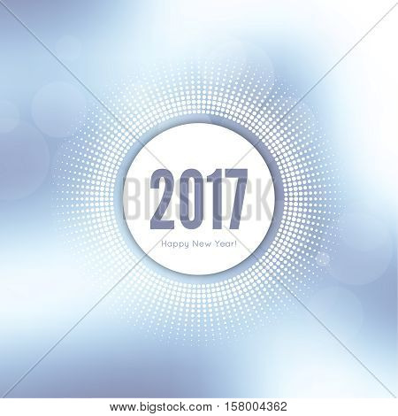 Abstract blurred vector background. Happy New Year 2017 theme. For decorations festivals, xmas, glamour holiday, illuminated, celebration.  Round banner with rays.