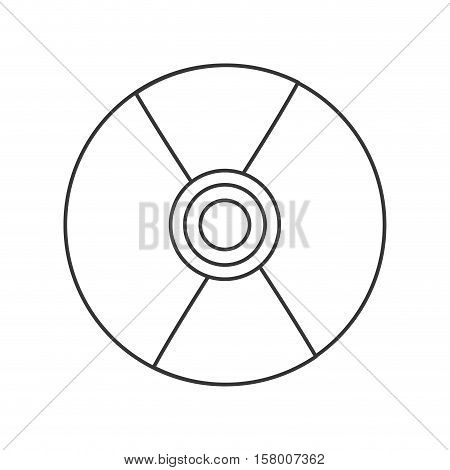 compact disk audio device icon vector illustration design