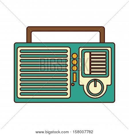 radio retro audio device vector illustration design