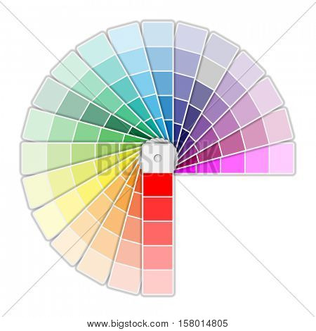 Color Palette Icon isolated on white background. illustration
