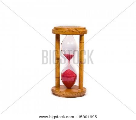 Hour Glass isolated on white background.
