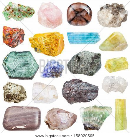 Set Of Various Mineral Stones: Tanzanite, Etc