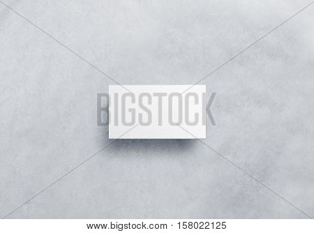 Blank white call card design mockup, craft paper, clipping path. Plain business namecard presentation.