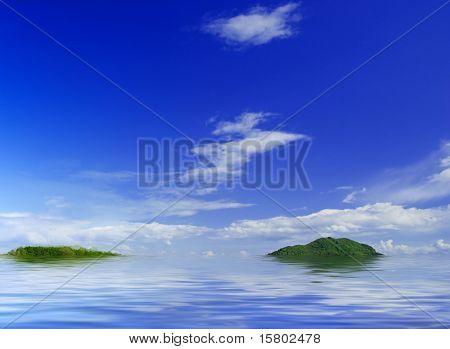 Panorama photo of sky and sea