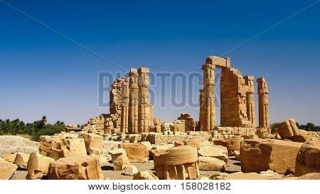 Ruines of Amun temple in Soleb Sudan