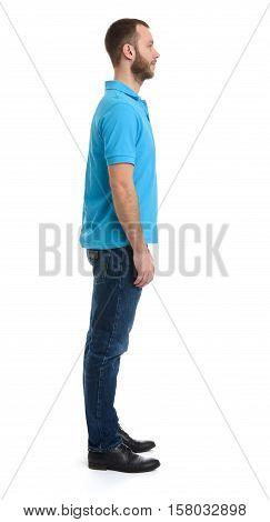 Full Length Profile Portrait Of Bearded Dude