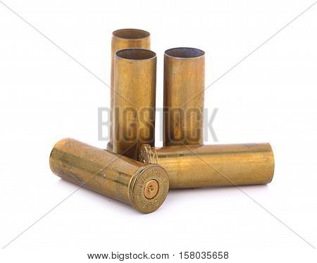 gun, isolated, dirty, bullet 38 special shell casings
