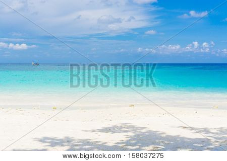 Background Of Exotic Sand Sea Beach
