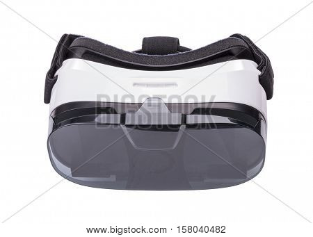 VR virtual reality headset isolated on white background