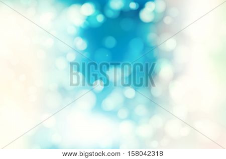 Soft blue and white color background with natural bokeh