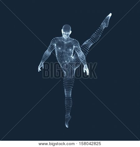 Gymnast. Man. 3D Model of Man. Human Body Model. View of Human Body. Gymnastics Activities for Icon Health and Fitness Community.