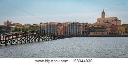 Lesina high definition scenic view with the sea (Puglia Italy)