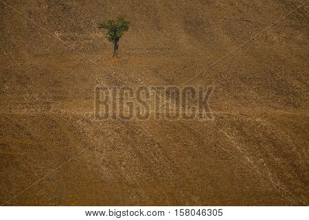Background of Moravian fields area called the Moravian Tuscany Czechia.