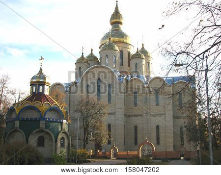 St. - St. Michael's Cathedral. St. Michael's Cathedral in Cherkassy - the largest church in Ukraine (up to 72 m in height). Built in 8 years on the project of the Archbishop of Cherkassy and Kanev Sophronia in the Byzantine style. It can simultaneously ac