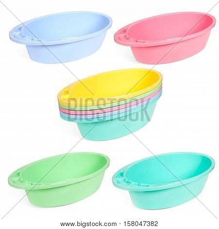 Multi-colored Plastic Trays