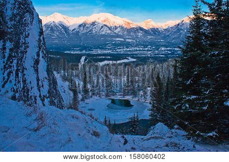 Lookout from the top of Grassi Lakes, Canmore, Canada