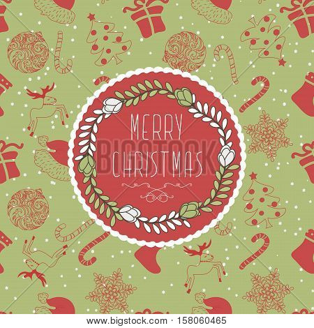 Abstract  Design Cute Winter Holiday Christmas Background