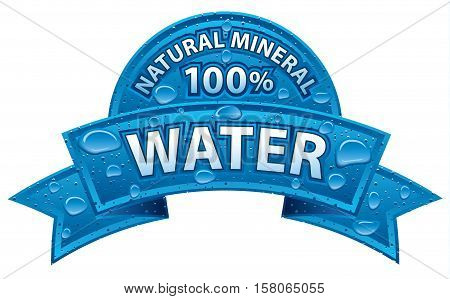 illustration of natural water banner and sticker