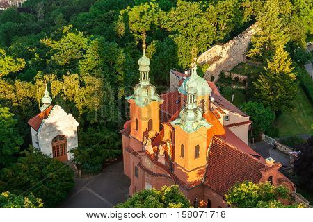 Cathedral of Saint Lawrence in Prague. Czech Republic