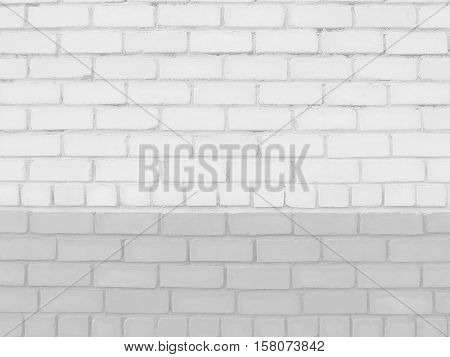 White pale brick background with copy space for your text and images.