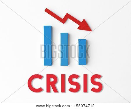 Debt Risk Difficulty Downfall Concept poster