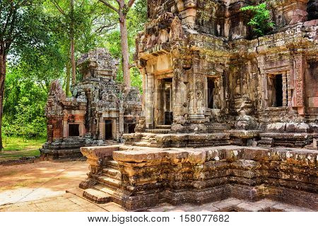 Entrance To Central Sanctuary Of Thommanon Temple, Cambodia