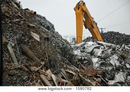 Crane At Salvage Yard