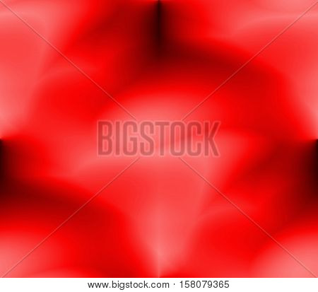 On a dark background of orange and red stripes with circles and lines, dots and spots with blots, blur and bright