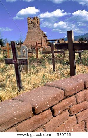 Cemetary At Taos, New Mexico