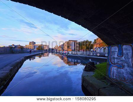 Union Canal In Edinburgh