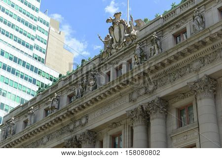 Alexander Hamilton US Custom House is a historic building built in 1907 with Beaux Arts style in Lower Manhattan, New York City, USA.