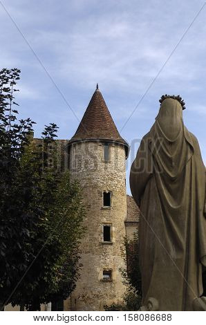 Medieval Tower and Sculpture in Saint CereLot Valley France