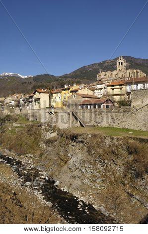 village of Prats de Mollo - La Preste Vallespir Languedoc Roussillon Pyrenees Orintales France