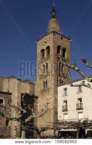 Saint Pierre Church Prades Languedoc Roussillon Pyrenees Orientales France