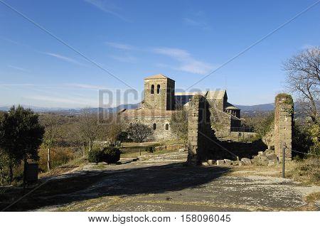 Benedictine monastery of Sant Pere de Casserres Masies de Roda Osona Barcelona province Catalonia Spain