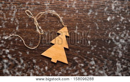 Christmas Greting Card. Handmade Decoration Christmas Tree
